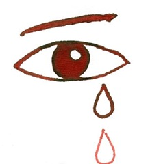 eye tear blood